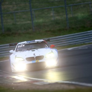 Alex Lynn racing at the Nurburgring 24 Hours qualifying race